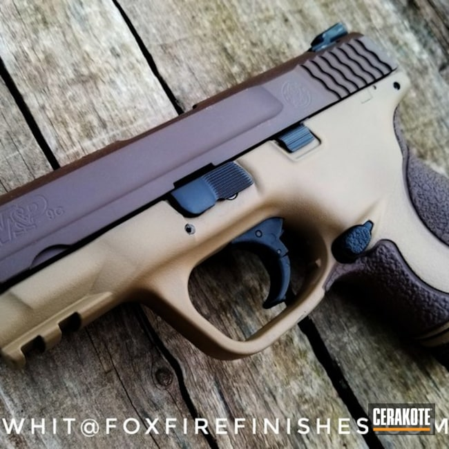 Two Toned Handgun done in H-259 Barrett Bronze and E-190 20150