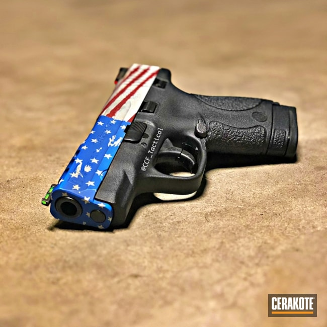 "Thumbnail image for project ""Cerakoted American Flag Smith & Wesson Handgun"""