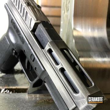 Cerakoted Custom Springfield Xd Handgun In A Distressed Cerakote Finish