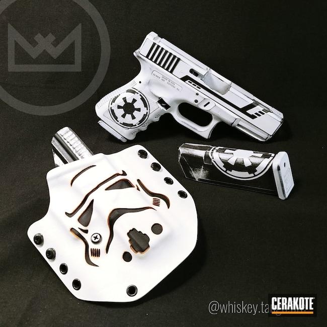Cerakoted: Stormtrooper,Glock 19C,Snow White H-136,Graphite Black H-146,Holster,Pistol,Star Wars Theme,Glock,Star Wars