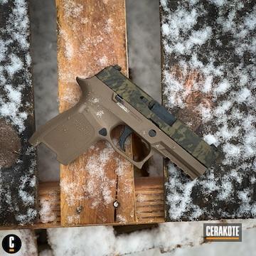 Cerakoted 3d Laser Imaged Sig Sauer Pistol