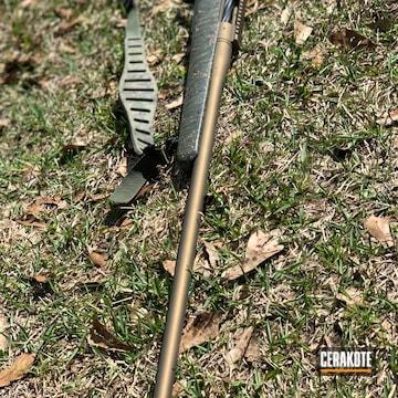 Cerakoted 7mm Rem Mag Bolt Action Rifle Cerakoted With H-148 Burnt Bronze