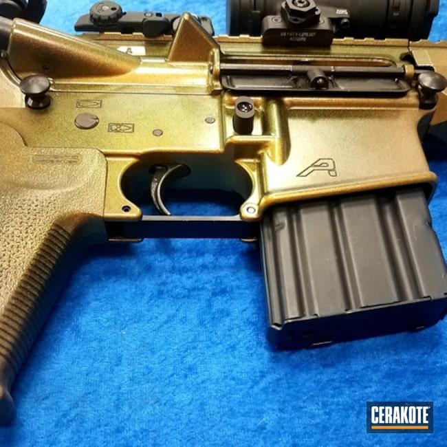 Cerakoted: Aero Precision,Custom Rifle,GunCandy Scorpion,AR Pistol,Mud Brown H-225,Graphite Black H-146,Desert Sand H-199,Pistol,Tactical Rifle,GunCandy,AR-15
