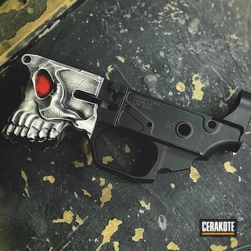 Cerakoted Battleworn Spike's Tactical The Jack Lower Receiver