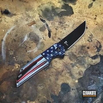 Cerakoted American Flag Coated Folding Knife