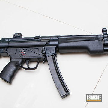 Cerakoted Mp5 Themed Airsoft Gun Cerakoted In H-245 Socom Blue