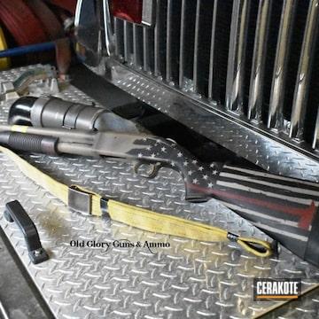 Cerakoted Firefighter Themed Mossberg 500a Shotgun