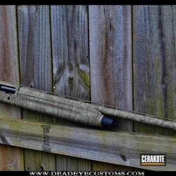 Cerakoted Shotgun In A Custom Cerakote Camo Finish