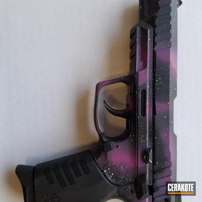 Cerakoted: Bright White H-140,Ruger,SIG™ PINK H-224,Armor Black H-190,Pistol,Ruger SR22,Galaxy