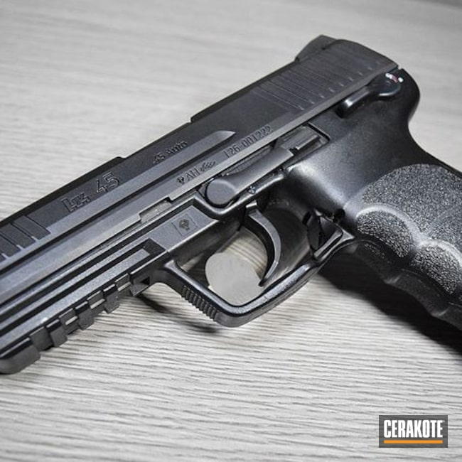 HK45 Themed Airsoft Pistol in a Cerakote Graphite Black Finish
