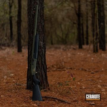 Cerakoted Shotgun Done In Cerakote H-229 Sniper Green