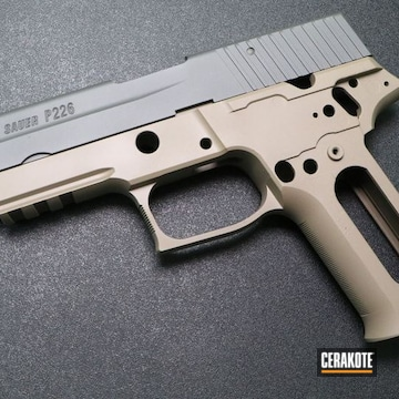 Cerakoted Two Toned Sig Sauer P226