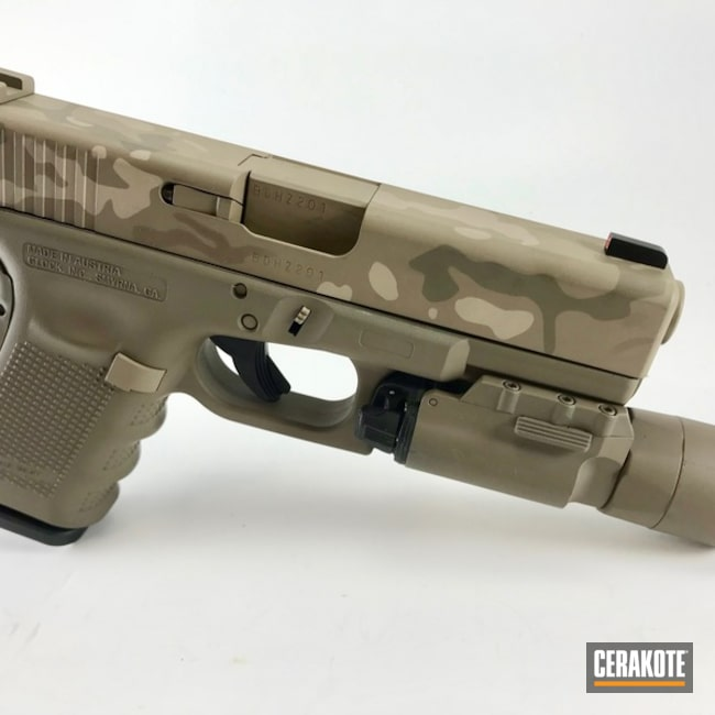 Cerakote Desert MultiCam on this Glock 32 Handgun