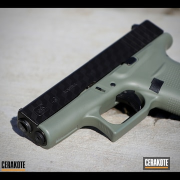 Cerakoted Glock 43 With 3d Camo By Laser Imaging