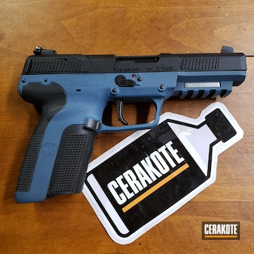 Cerakoted Two Toned Fn Five-seven Handgun