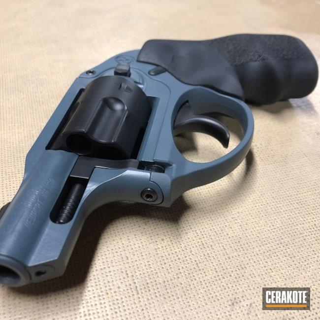 Cerakoted: Jesse James Cold War Grey H-402,Ruger,Ruger LCR,Graphite Black H-146,Two Tone,Revolver,Wheel Gun