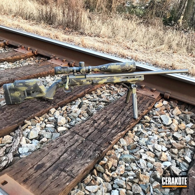 Black MultiCam Cerakote Finish on this Bolt Action Rifle