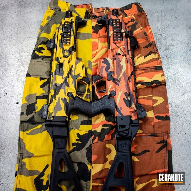 "Thumbnail image for project ""CZ Scorpion Rifles in a Custom Cerakote MultiCam Finish"""