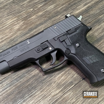 Cerakoted Sig Sauer P226 In Cerakote Sig Dark Grey And Armor Black