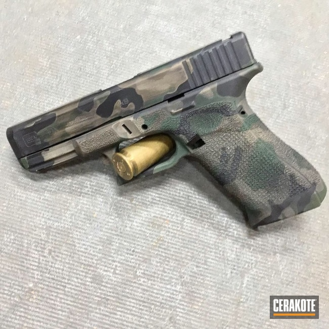 "Thumbnail image for project ""Glock 19X in a Distressed Cerakote Camo Finish"""