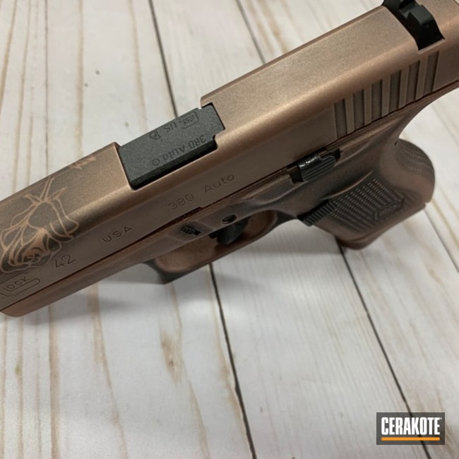 "Thumbnail image for project ""Distressed Glock 42 in a Custom Cerakote Rose Gold Finish"""