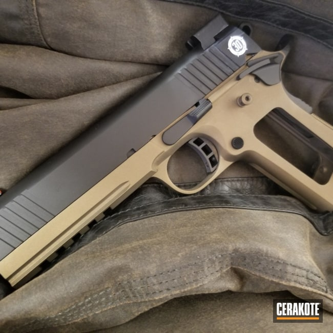 Smaller version of the 2nd project picture. Two Tone, Pistol, Burnt Bronze H-148Q, Gen II Graphite Black HIR-146Q