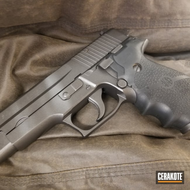 Mobile-friendly version of the 1st project picture. 1911, Pistol, COBALT H-112Q, Solid Tone