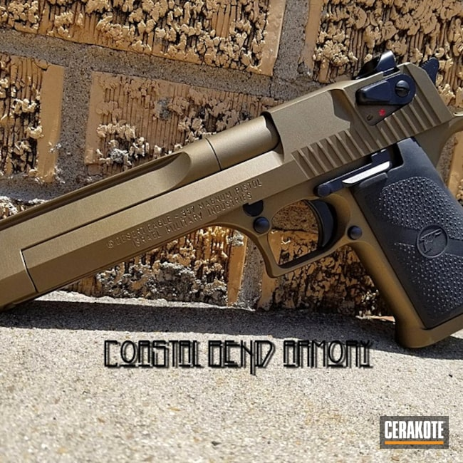 Smaller version of the 2nd project picture. Graphite Black H-146Q, IWI, Two Tone, Pistol, Desert Eagle, Burnt Bronze H-148Q, Semi-Auto