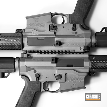 Cerakoted H-227 Tactical Grey And H-146 Graphite Black