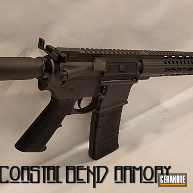 Cerakoted: Graphite Black H-146,Tactical Rifle,Cobalt H-112,AR-15