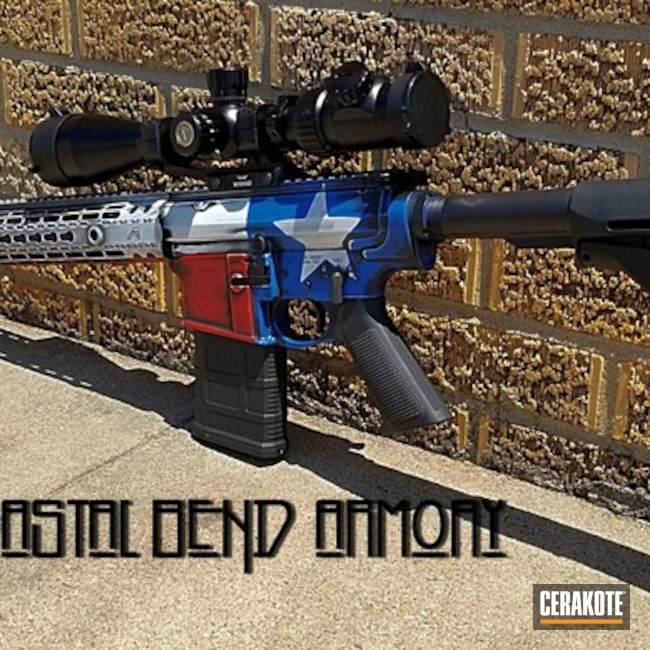 Cerakoted: 6.5 Creedmoor,NRA Blue H-171,Snow White H-136,Graphite Black H-146,AR-10,USMC Red H-167,Tactical Rifle,Texas Flag,Distressed Texas Flag