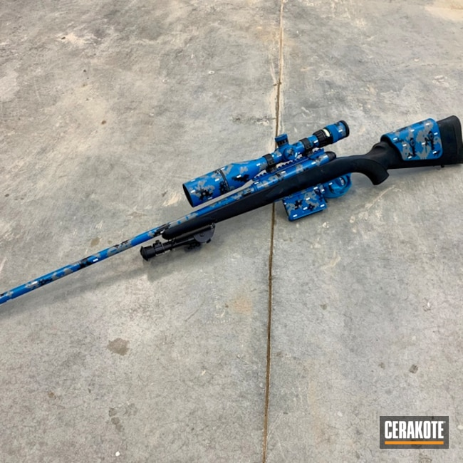 Savage Arms Bolt Action Rifle in a Cerakote Digital Camo Finish