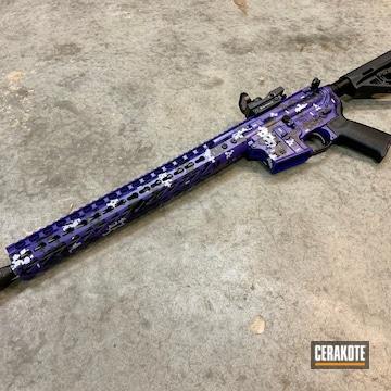 Cerakoted Ar-15 Rifle In A Purple Digital Camo Finish