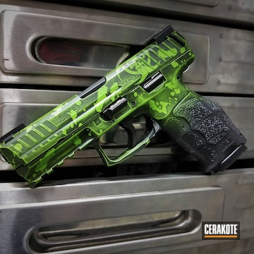 Cerakoted H-146 Graphite Black And H-168 Zombie Green