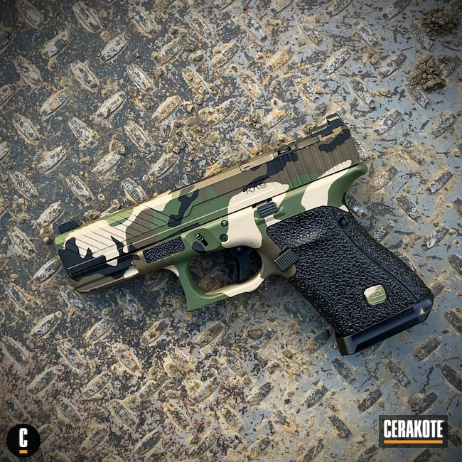 KAB Defense Custom Woodland Camo Glock