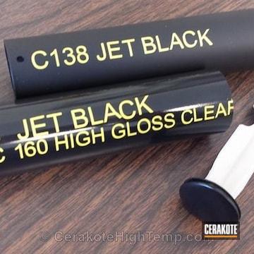 Cerakoted C-138 Jet Black With Mc-160 High Gloss Ceramic Clear