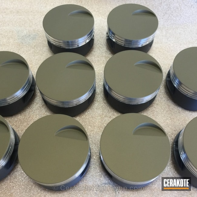 Cerakoted: Automotive,High Temperature Coating,PISTON COAT (Oven Cure) V-136,Pistons
