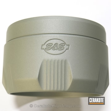 Cerakoted Custom Mix Of C-7900 Cerakote Glacier Titanium With C-8100 Cerakote Glacier Green