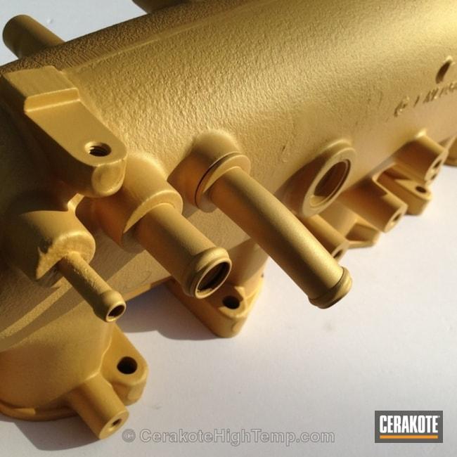 Cerakoted: CERAKOTE GLACIER GOLD C-7800,Intake Manifold,Automotive