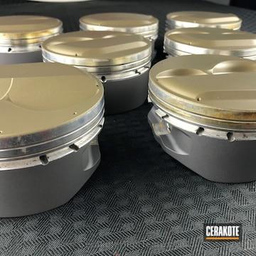 Cerakoted Piston Heads Coated In Cerakote C-186