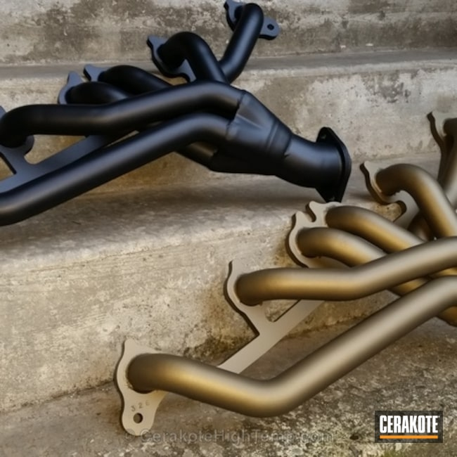 "Thumbnail image for project ""Banks Headers for Jeep Cherokee 4.0L Cerakoted in C-7600 and C-7800"""