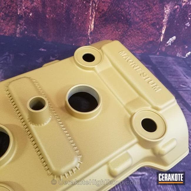 Cerakoted: CERAKOTE GLACIER GOLD C-7800,Valve Cover,More Than Guns,Automotive
