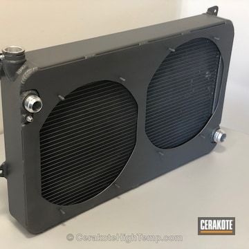 Cerakoted Coated Radiator In C-187