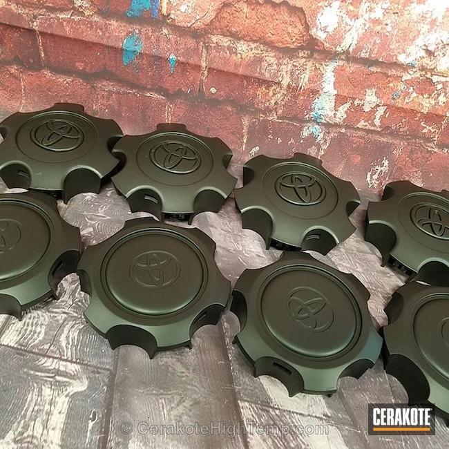 Cerakoted: Wheel Center Caps,Automotive,CERAKOTE GLACIER BLACK C-7600,Wheels,Toyota