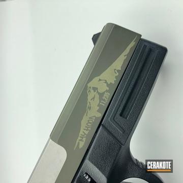 Cerakoted Laser Engraved Smith & Wesson Handgun