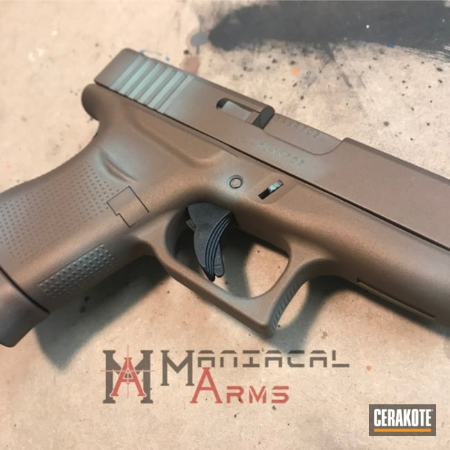 "Thumbnail image for project ""Glock 43 in a Cerakote Copper Patina Finish"""