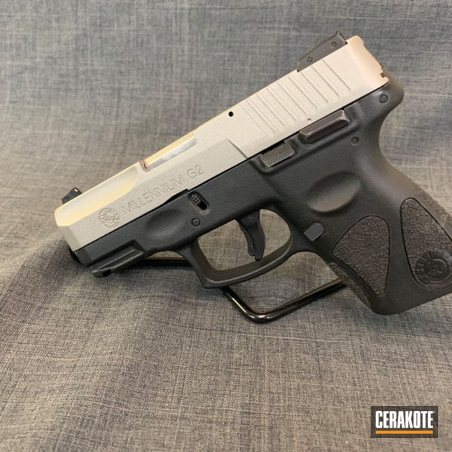 "Thumbnail image for project ""Taurus PT111 G2 Handgun Cerakoted in H-170 Titanium"""