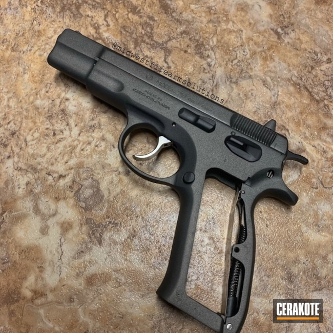 CZ Handgun Before and After a Cerakote Finish
