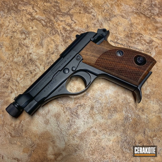 "Thumbnail image for project ""Beretta Handgun Refinished in H-238 Midnight Blue"""