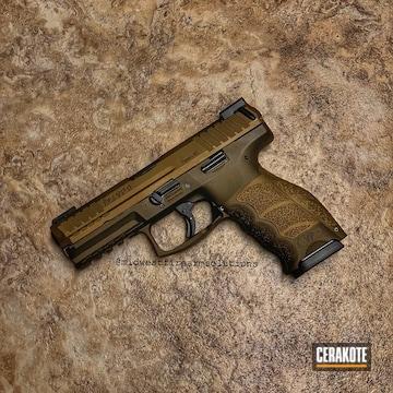 Cerakoted Hkvp9 Pistol In Cerakote Burnt Bronze And Vortex Bronze